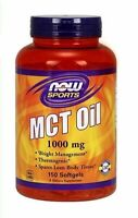 MCT 150 Oil Capsules Tablets NOW Coconut Oil Fatty Acid Keto Ketogenic Diet