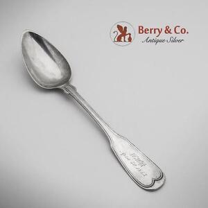 Fiddle Thread Teaspoon American Coin Silver Beggs Smith 1850
