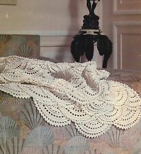 Beautiful Baby Crochet Blanket Pattern Sea Shells with scalloped edge DK 767