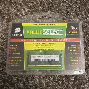Corsair Memory 1GB DDR2 SDRAM PC2-4200 533MHz RAM | Notebook Memory