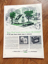 1953 Ford Dealers Service Ad Your Ford Won't Even know it's Winter