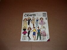 """McCall's Pattern701 Fashion 11 1/2"""" Female and12 12"""" Male Doll Clothes Uncut1991"""