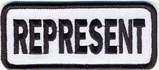 REPRESENT Funny Respect Motorcycle MC Club Embroidered Biker Vest PATCH PAT-3597