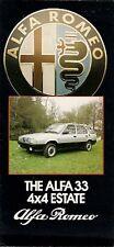 Alfa Romeo 33 4x4 Estate 1986-87 UK Market Small Format Foldout Sales Brochure