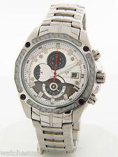 Aqua Master Men's #336 Silver Tone Stainless Steel Chronograph Quartz Date Watch