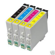 4 X Combo De Cartuchos De Tinta Compatible Para Epson Stylus D92 DX4000 DX4050 DX700F