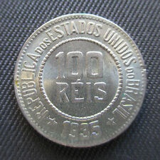 Brazil, Brasil - 100 Reis 1935, KM#518 - *HIGH GRADE - AU*