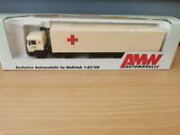 (D4) AWM / AMW H0 1:87 MAN Sattelzug Bayerisches Rotes Kreuz OVP