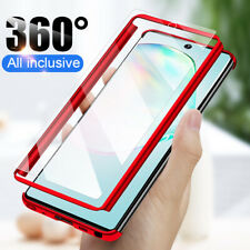 For Samsung S21 S20 FE Note 20 S9 S8 Plus 360° Full Cover Case + Tempered Glass