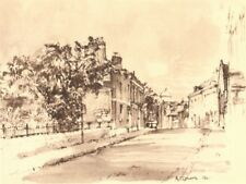 WINCHESTER. St. Thomas Street. Hampshire. By Raymond T Cowern 1949 old print