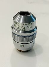 Leitz NPL Fluotar L 40X Phaco 2 Fase Microscopio Objective Lwd 160mm & Correctio