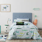 Adairs Kids Crazy Croc Double Quilt Cover Set Pale Blue BNIB - RRP $139.99