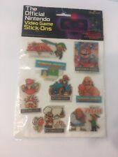 Vintage 1988 The Official Nintendo Video Game Stick-Ons Packs Unopened Zelda