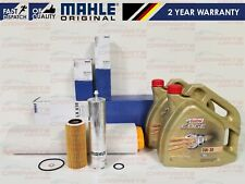 FOR BMW X5 E70 3.0D 235BHP MAHLE ENGINE AIR OIL FUEL FILTER 8L CASTROL 0W30 OIL