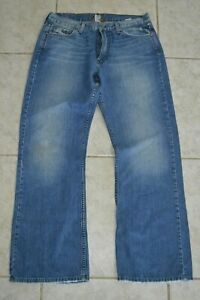 LUCKY BRAND Relaxed Bootleg Blue Jeans - Men Size 33x32 Made in USA
