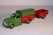 1950's French Dinky Toys, #25q Studebaker Pickup Truck and Trailer, Original