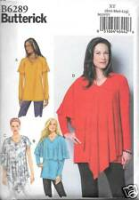 B6289 LADYS   TUNICE OVERLAY VARIATIONS   SM-LRG NEW BUTTERICK  PATTERN 6289