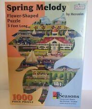 Spilsbury Spring Melody Flower Shape Jigsaw Puzzle 1000 Piece 3 Feet Long NEW