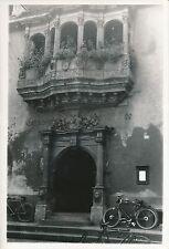 COLMAR c. 1935 - Vélos  Le Commissariat Porte Balcon  Haut-Rhin - DIV 6467