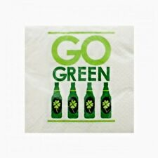 2 PACKS OF 18 ST PATRICK'S DAY GO GREEN BEVERAGE NAPKINS SHAMROCK IRISH PARTY