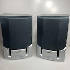 AIWA Stereo System Speakers Pair Bookshelf SX-NAJ11 Set Of 2 Great Sound 15W