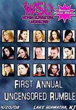WSU Womens Wrestling - 1st Ann. Uncensored Rumble DVD Becky Bayless Alicia