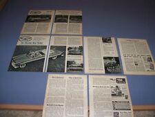VINTAGE..1955 HUDSON HORNET & CHRYSLER NEW YORKER ..HISTORY/PHOTOS..RARE! (742F)