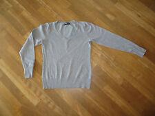 Damen Pullover, Farbe: grau, Größe: 36, Marke:TCM mit Knöpfen an den Armbunden