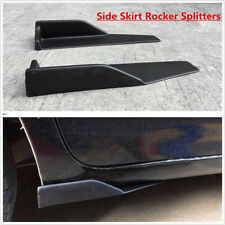Pair Universal Side Skirts Extension Winglet Blades Rocker Splitter Left & Right