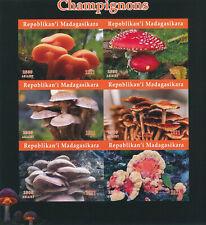 More details for madagascar 2021 mnh mushrooms stamps fungi champignons nature 6v impf m/s