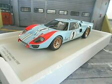 FORD GT40 GT 40 V8 24h Le Mans 1966 #1 Ken Miles / Hulme Gulf Shelby Spark 1:18