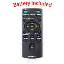 New RM-ANU192 Replace Remote for Sony HT-CT60BT SA-CT60BT SA-CT60 Sound Bar
