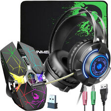 Wireless Gaming Mouse, Gaming Headset, Mouse Pad for PC Windows Vista/MAC/Linux