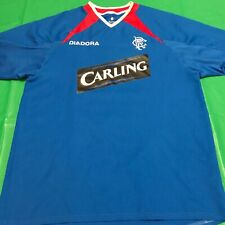 MEN'S DIADORA FC RANGERS GLASGOW SCOTLAND  FOOTBALL SOCCER SHIRT JERSEY SIZE S