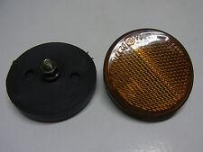 """2 X  REFLEKTOR RUND 55mm  KATZENAUGE mit """"E"""" ZEICHEN   (047)"""