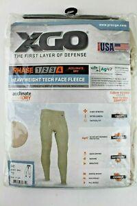 XGO Men's Base Layer Bottoms Pants Heavyweight Tech Face Fleece Phase 4 New