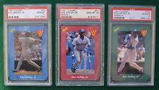 Ken Griffey Jr. baseball card lot (3) PSA 10 Gem Mint  1991 Classic Series 1 2 3