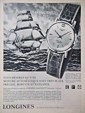 PUBLICITé DE PRESSE 1961 MONTRES LONGINES FLAGSHIP AUTOMATIC - ADVERTISING