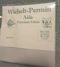 "Wichelt Imports Premium Cross Stitch Fabric Aida 16ct 18"" X 25"" Lambswool"