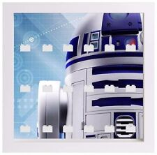 Lego Minifigure Display Case Frame Star Wars R2D2 minifigs