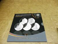 2016 , 5 x 20 Euro Silber PP Sammlermünzset , Jahrgang komplett im Blister