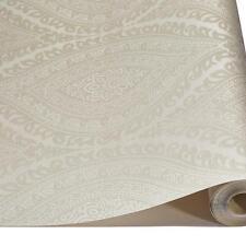 Grandeco Kismet Damask Cream Textured Vinyl Wallpaper Metallic Glitter A17701