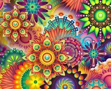 Usa - Diy Paint by Number Kit Acrylic Painting Home Decor - Kaleidoscope Eyes