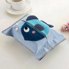 Cartoon Travel Tissue Holder Cotton Linen Fabric Pocket Tissue Pouch Cover