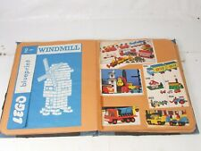More details for vintage lego scrapbook including blueprints clippings box pictures