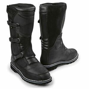 BMW Motorrad Venture Grip Motorcycle Waterproof Leather GTX Goretex Boots Black