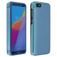 Flip Case, Mirror Case for Huawei Y5 2018/Honor 7S, Standing Cover - Blue