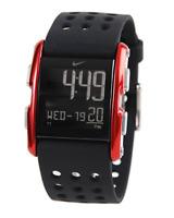 Nike Torque SI WC0067-012  Aluminum Black/Red Silicone Digital Chronograph Watch