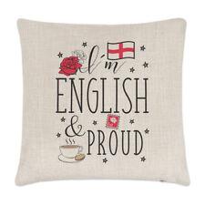 I'm Anglais Et Fier Lin Housse De Coussin - Oreiller Drôle Rugby Angleterre