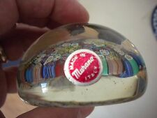Vintage MURANO Italy Millefiori Paperweight Vivid Colors W/ Paper Label